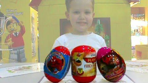 Видео Летачки Маша и Медведь Спайдермен Человек Паук яйца с сюрпризом
