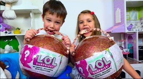 Видео LOL ЧЕЛЛЕНДЖ в СУХУЮ! Позор для девочек! Мальчики ЗНАЮТ толк в куклах /Куклы ЛОЛ/ L.O.L Challenge