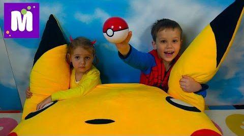 Видео Ловим Покемон Go! Челлендж на машинах / Мальчики против девочек  /Игрушки Pokemon из МакДональдс