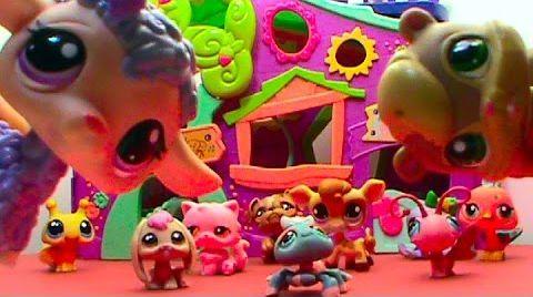 Видео LPS Литлест Пет Шоп Маленький зоомагазин игрушки играем Littlest Pet Shop