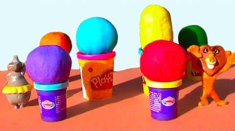Видео Мадагаскар на русском Яйца сюрприз ПлэйДо Play-Doh игрушки