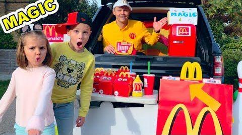 Видео MaGiC McDonalds превратил настоящую еду в ... Мэджик МакДональдс turn real food in gummy