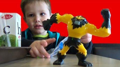 Видео Макдональдс Хеппи Мил игрушки гамбургер влог Ben 10