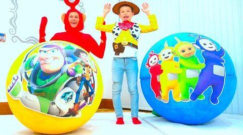 Видео Макс и его новые игрушки в огромных яйцах