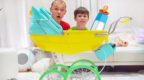 Видео Макс и икота у Кати и папы