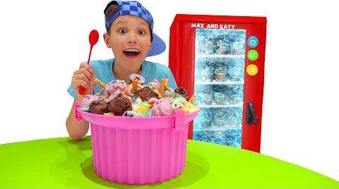 Видео Макс и история про Холодильник мороженого