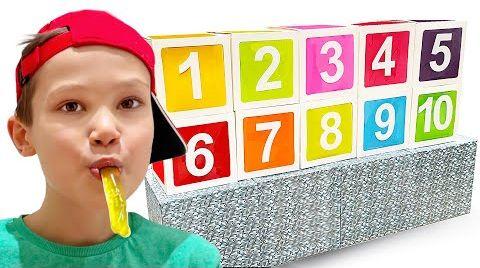 Видео Макс и Катя играют с цифрами