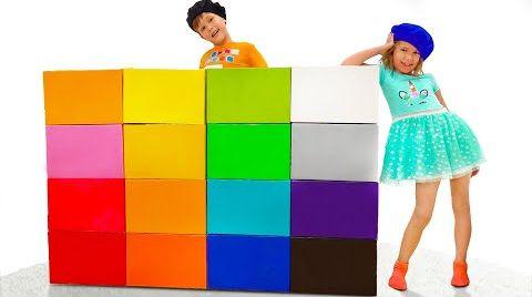 Видео Макс и Катя играют в цвета