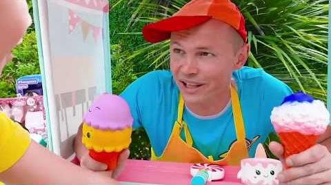 Видео Макс и Катя играют в магазин мороженого