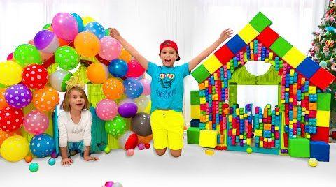 Видео Макс и Катя красили Игровые домики и машинки