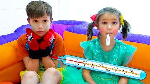 Видео Макс и Катя претворились что заболели