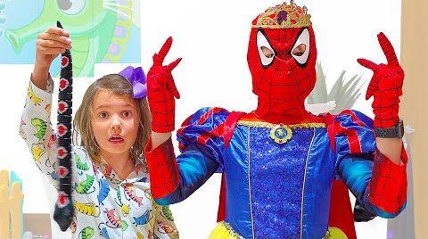 Видео Макс и Катя превращаются в принцесс