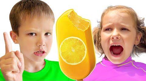 Видео Макс и Катя в папином вагончике мороженого