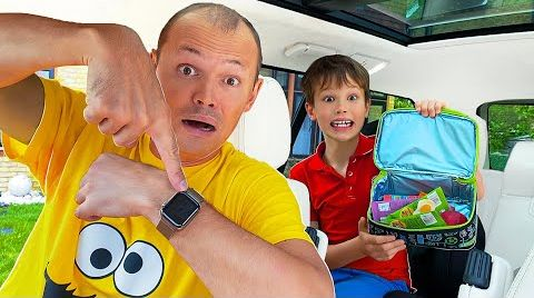 Видео Макс и папа опоздали в школу