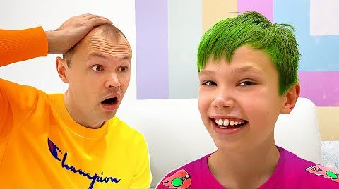 Видео Макс покрасил волосы а Катя сделала пирсинг в носу