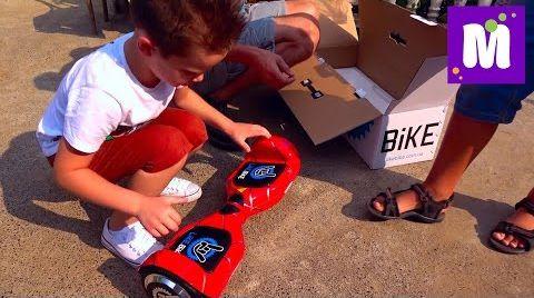Видео Макс покупает Гироскутер Like Bike Гироборд брату в подарок ВЛОГ едем к родственникам на машине