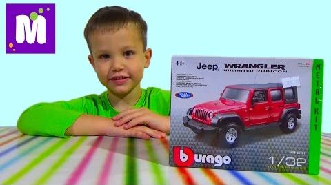 Видео Машинка джип собираем конструктор распаковка игрушки