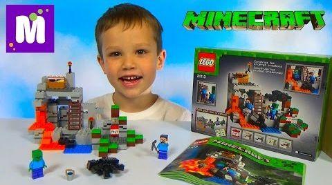 Видео Майнкрафт ЛЕГО Пещера собираем конструктор LEGO Minecraft The Cave