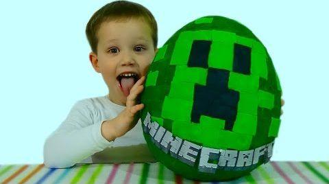 Видео Майнкрафт яйцо с сюрпризом игрушки