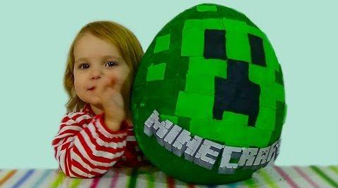 Видео Майнкрафт яйцо с сюрпризом /Minecraft/ обзор игрушек
