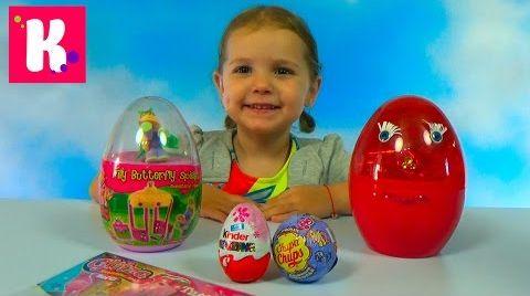 Видео Мега яйца с Майл Литл Пони и Филли / делаем сверкающие татушки