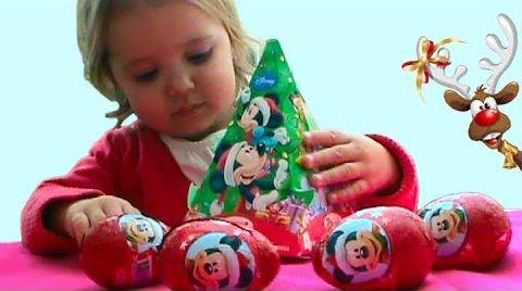 Видео Мики Маус новогодний подарок с сюрпризом / обзор игрушек