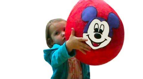 Видео Мики Маус огромное яйцо сюрприз /обзор игрушек