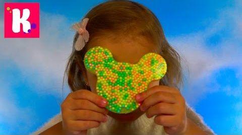 Видео Минни Маус с шариков/ Бабочка и Червяк из геля/  DIY Cling Creator Crayola
