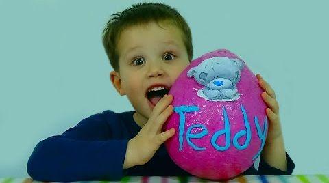Видео Мишка Тедди яйцо сюрприз игрушки