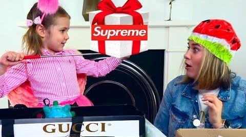Видео Mistery Box с GUCCI SUPREME и VANS для Кати и мамы / Угадай стоимость МЕГА ДОРОГОЙ коробки/ ЧЕЛЛЕНДЖ