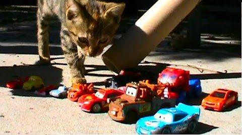 Видео Молния Маквин трансформер и котята на горке