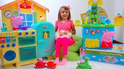 Видео Mommy PIG или рутина мамы свинки  от Кати для детей