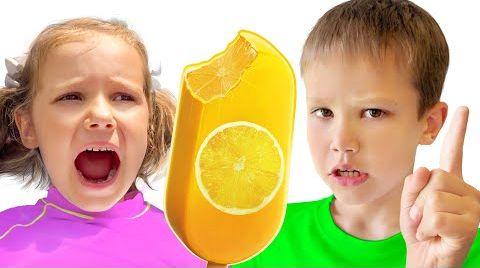 Видео Мороженое или настоящее челлендж от Макс и Катя