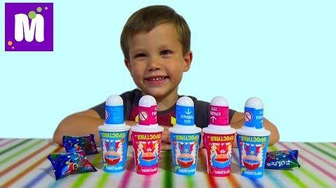 Видео Мороженое с игрушкой сюрприз прилипучки Стикизы распаковка
