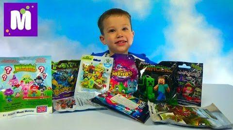 Видео Моши Монстерс Миньоны Майнкрафт игрушки сюрпризы распаковка