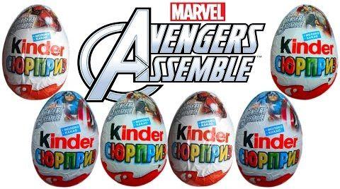 Видео Мстители Марвел Киндер Сюрприз открываем игрушки Avengers