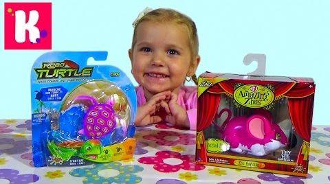 Видео Мышка и черепашка на батарейках / Обзор игрушек