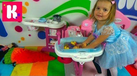 Видео Набор для куклы с ванной / Распаковка большого набора Baby Nurse