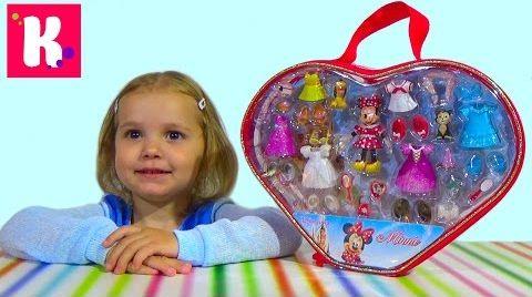 Видео Набор Минни Маус с платьями/ распаковка игрушки