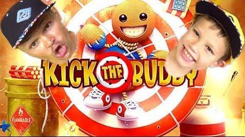 Видео Непобедимый чувачек в Kick the buddy