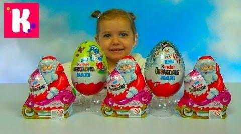 Видео Новогодние Kinder Surprise Christmas / Обзор игрушек