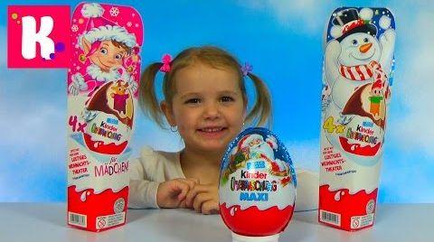 Видео Новогодняя серия Киндер сюрприз / Обзор игрушек Kinder Surprise Christmas