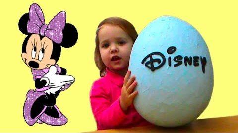 Видео Обзор игрушек Дисней с большом яйце