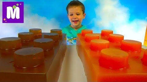 Видео Огромные желейные Лего Мега блоки делаем сами
