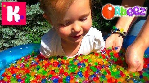 Видео ORBEEZ бассейн с разноцветными шариками/ Орбиз Challenge