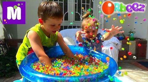Видео ORBEEZ шарики целый бассейн с сюрпризами