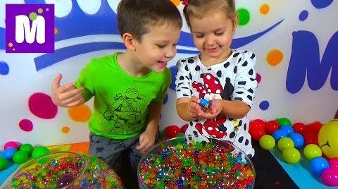 Видео Орбиз разноцветные шарики сюрпризы с игрушками Orbeez