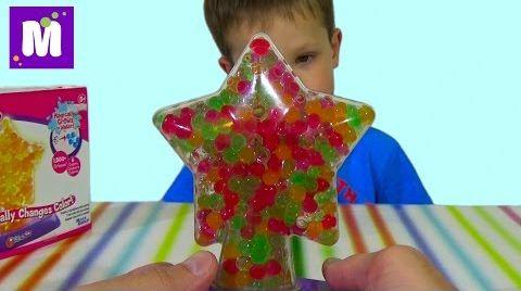 Видео Орбиз светильник с разноцветными шариками