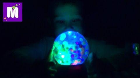 Видео Орбиз светильник с шариками игровой набор распаковка Orbeez Magic Light-Up Globe toy unboxing
