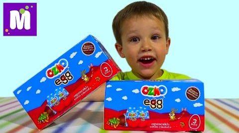 Видео Озмо яйца сюрприз с игрушками машинками и животыми OZMO